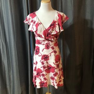 Free People Floral Pink and White Wrap dress NWT
